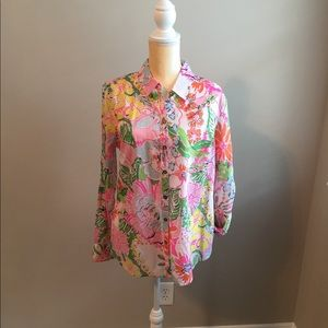 Lilly Pulitzer for Target NWT tropical floral top